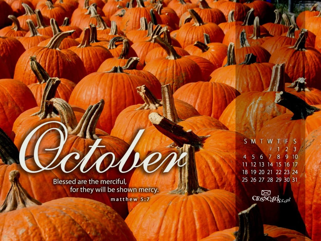 Exceptional Pumpkins Desktop Calendar  Free October Wallpaper