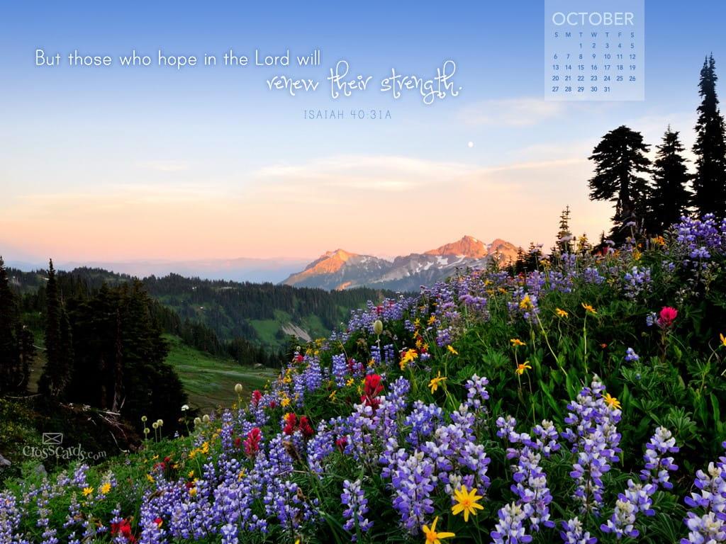 oct 2013 isaiah 4031 desktop calendar free october