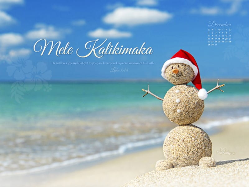 December 2013 - Mele Kalikimaka