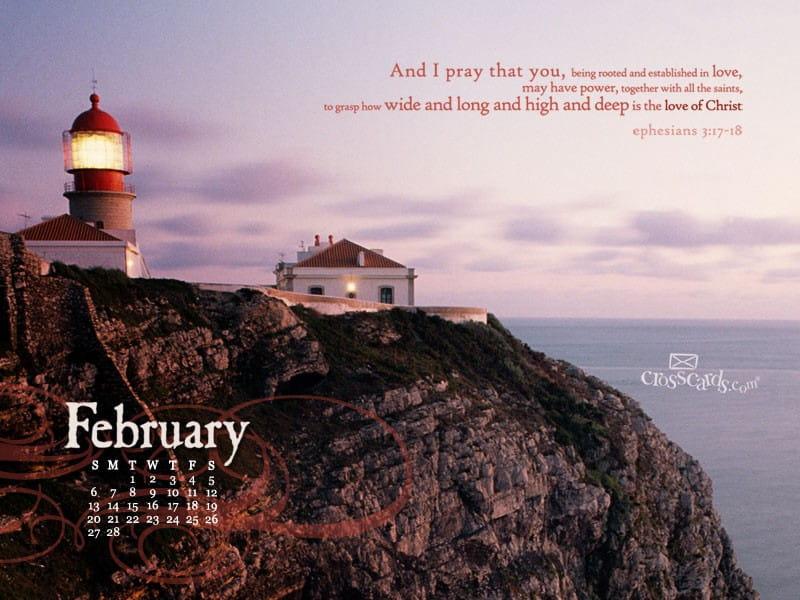 February 2011 - Ephesians 3:17-18
