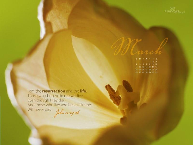 March 2012 - John 11:25-26