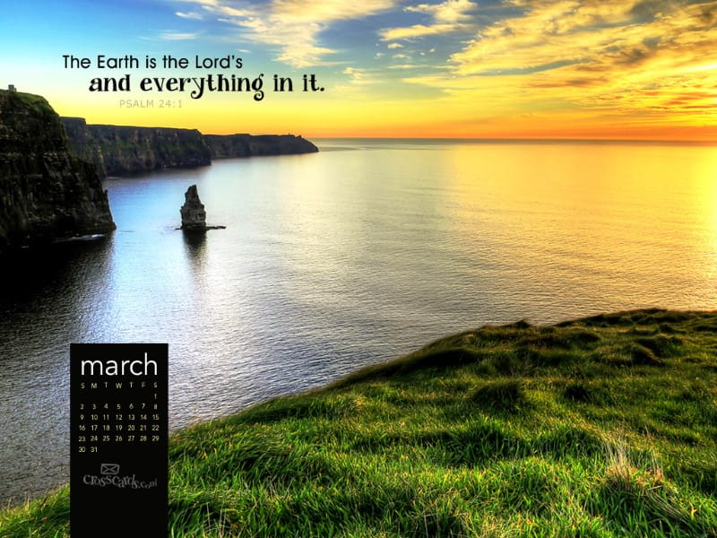 March 2014 - Psalm 24:1
