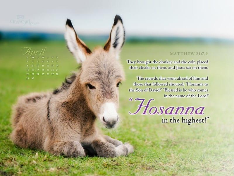 April 2012 - Hosanna