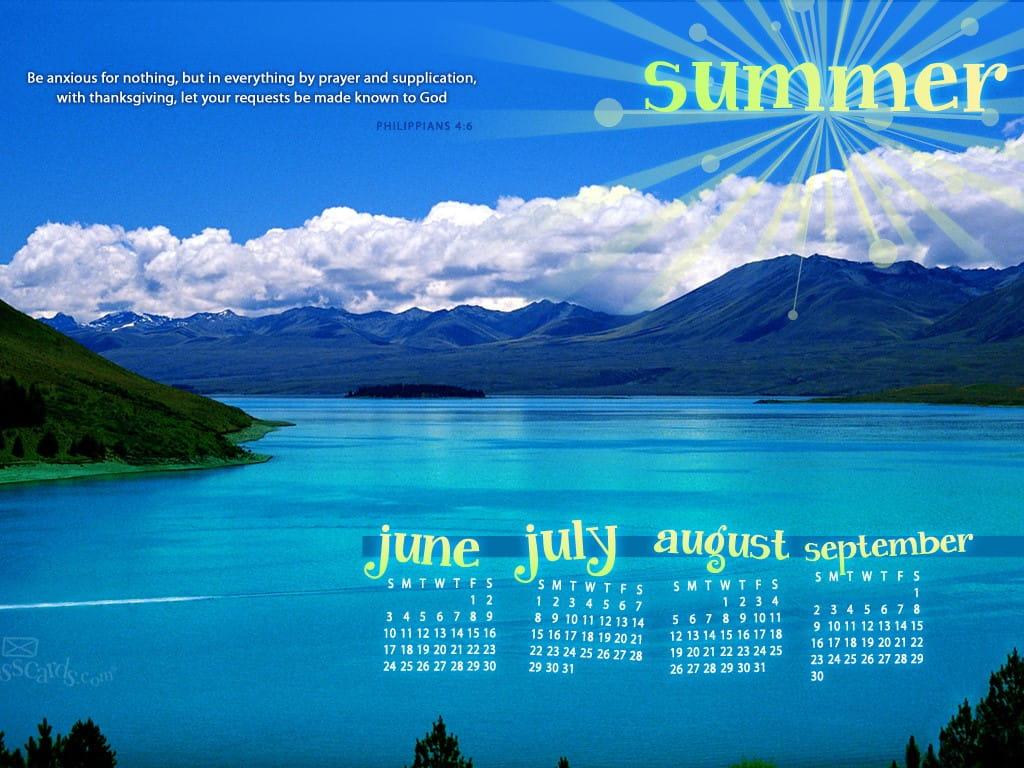 Nature S Calendar Wallpaper : Summer phil desktop calendar free june wallpaper