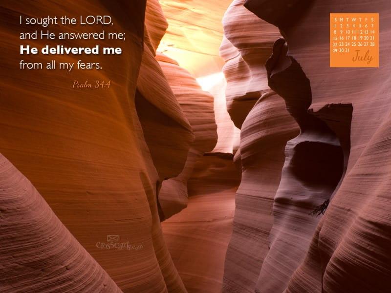 July 2012 - Psalm 34:4