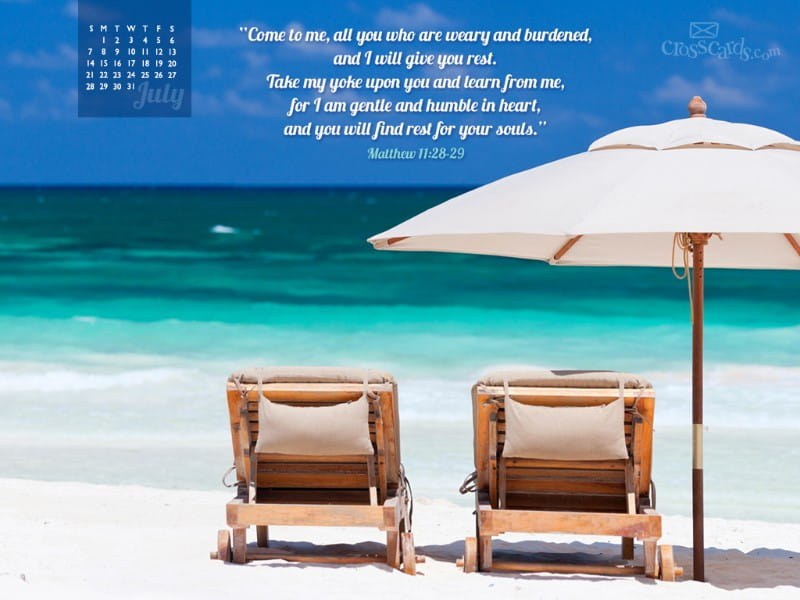 July 2013 - Matthew 11:28-29