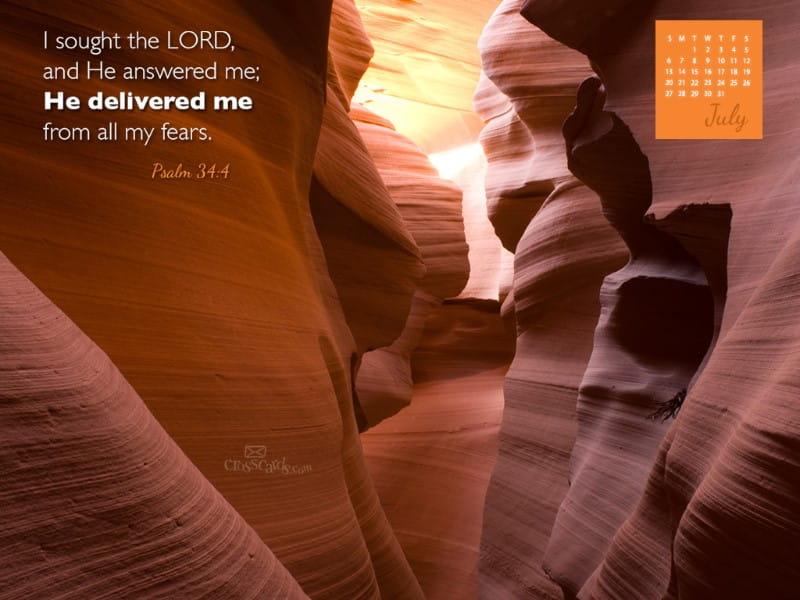 July 2014 - Psalm 34:4