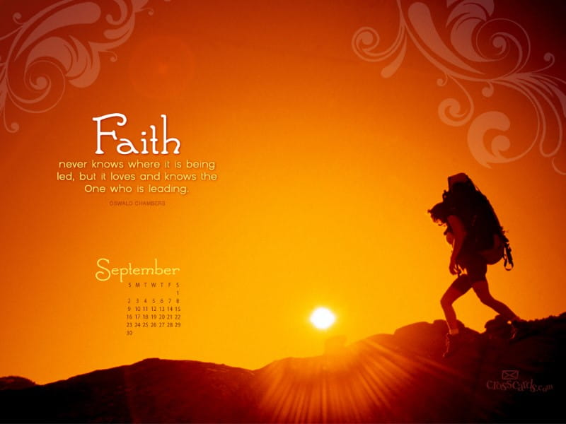 Free Calendar Wallpaper September : Sept faith desktop calendar free september wallpaper