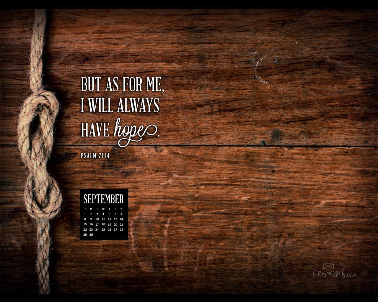 September 2013: Psalm 71:14 Desktop Calendar- Free September