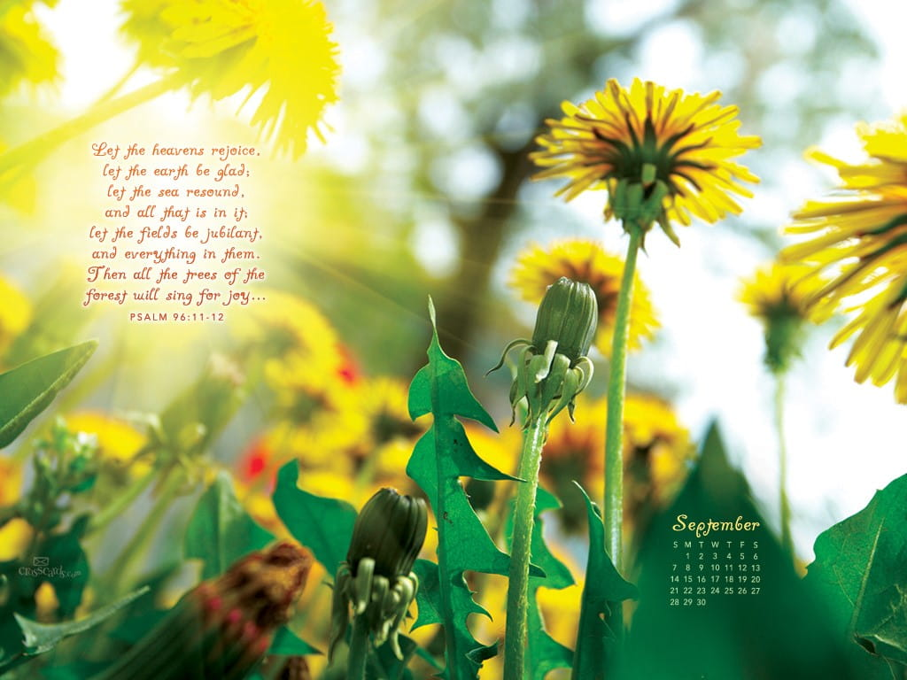 Free Calendar Wallpaper September : Sept psalm desktop calendar free