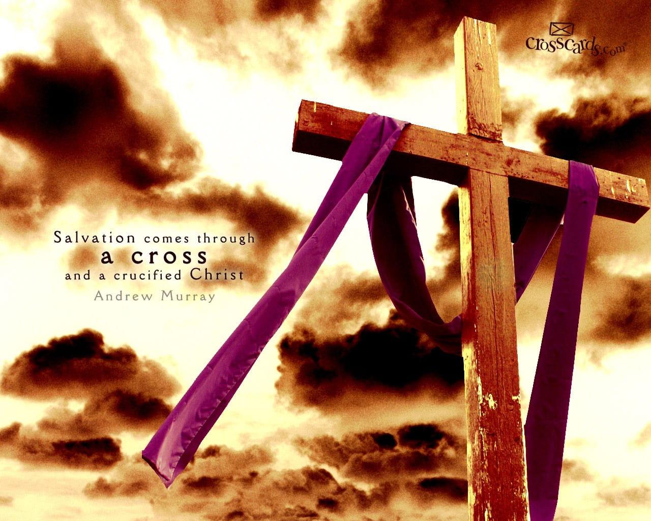 cross and christ desktop wallpaper free scripture verses