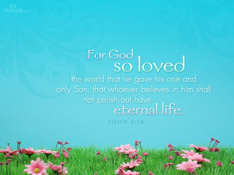 John 3:16 Desktop Wallpaper - Free Scripture Verses Backgrounds