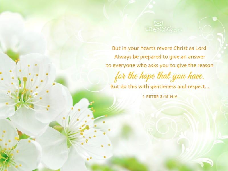 1 Peter 3:15 NIV
