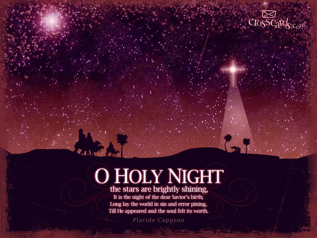 O holy night desktop wallpaper free seasons computer and - Crosscards christian wallpaper ...