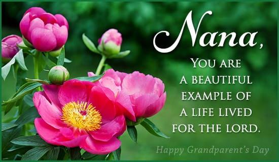 nana - godly example ecard