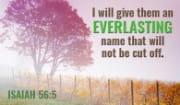 Isaiah 56:5