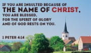 The Name of CHRIST is NOTHING to be ashamed of!