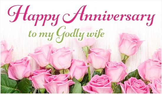 Happy anniversary to my godly wife ecard free