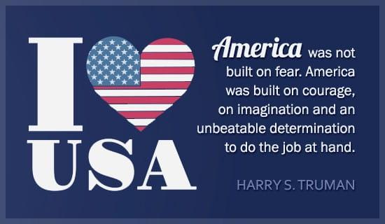 I Love USA - Harry Truman Quote