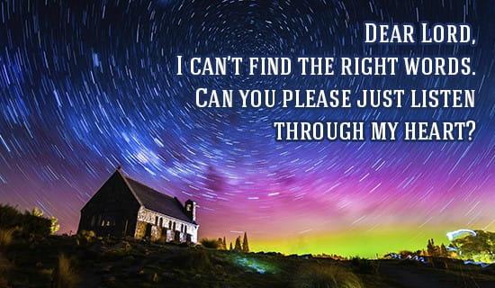 hear my silent prayer lord ecard free facebook ecards