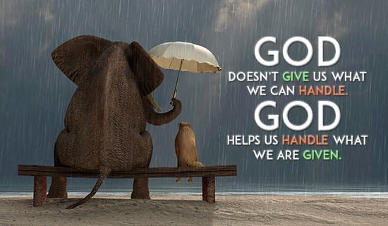 god will always be there for you  ecard