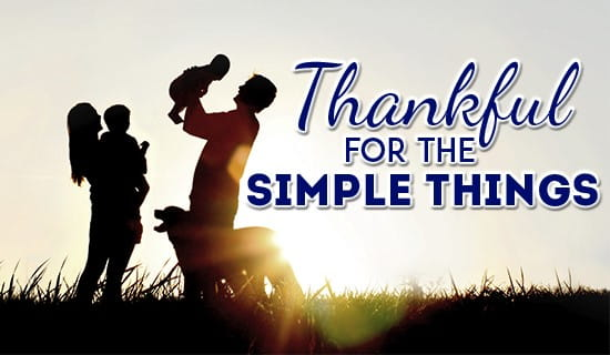 Simple things to be thankful for