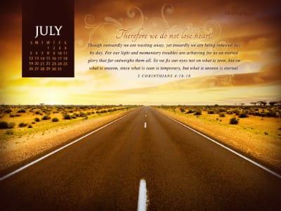 July 2015 - 2 Corinthians 4:16-18