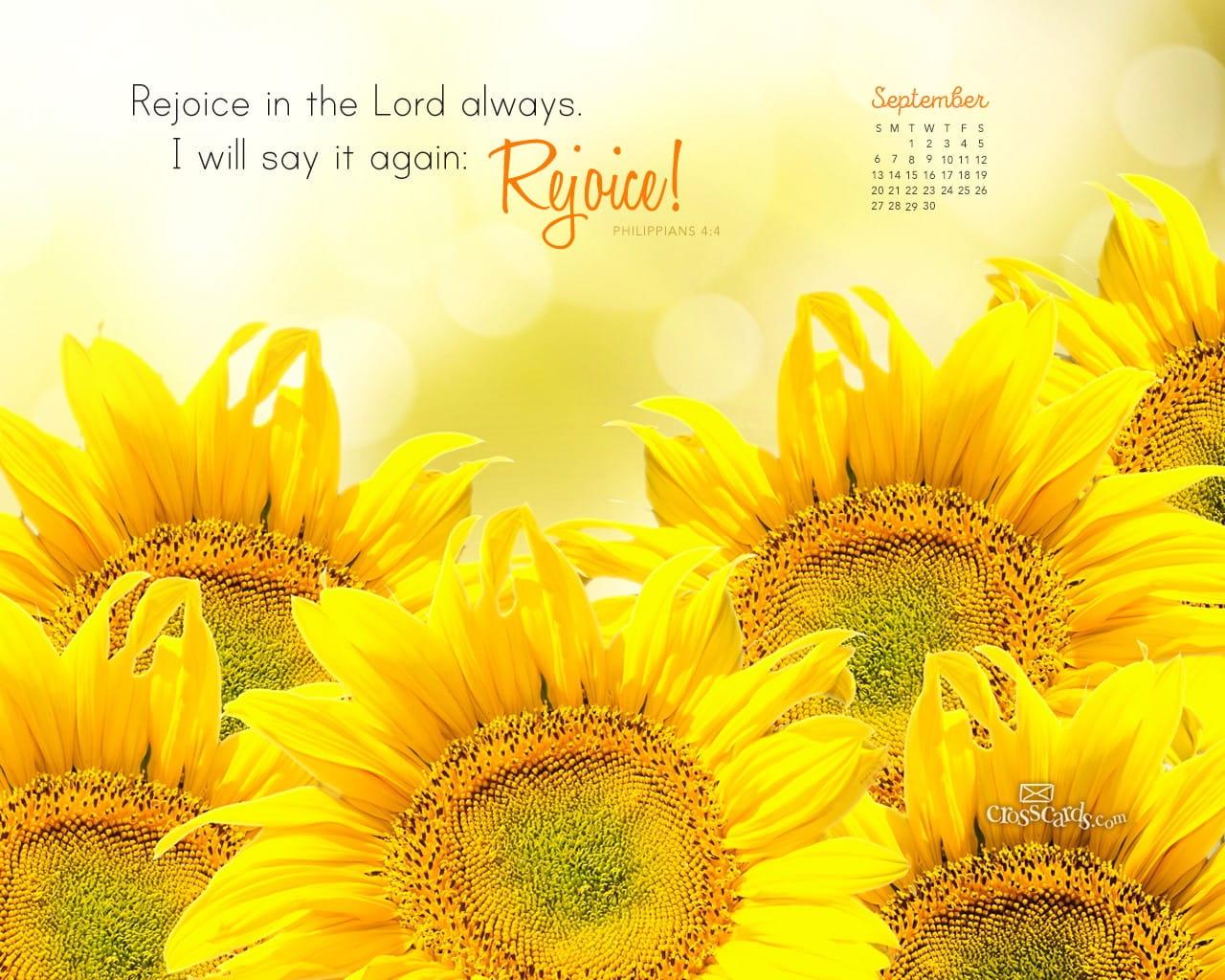 Christian Wallpaper Calendar : September philippians desktop calendar free