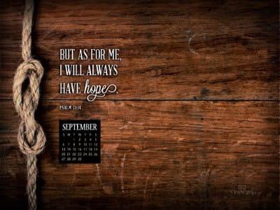 September 2015 - Psalm 71:14