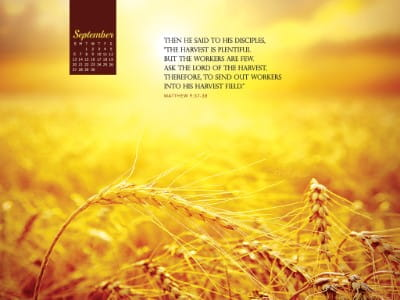 September 2015 - Matthew 9:37-38