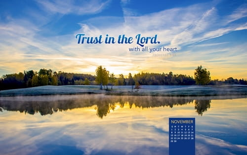 November 2015 - Trust in the Lord