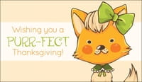 Wishing You  A Purr-Fect Thanksgiving