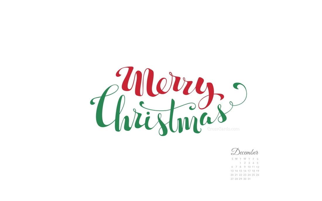 December Calendar 2015 With Merry Christmas On It | Calendar Template ...