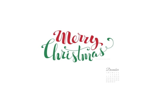 December 2015 - Merry Christmas Handwritten