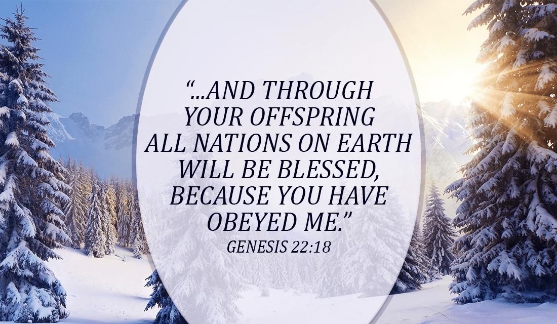 we have been blessed  - genesis 22 18 ecard