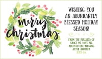 Merry Christmas - Abundantly Blessed