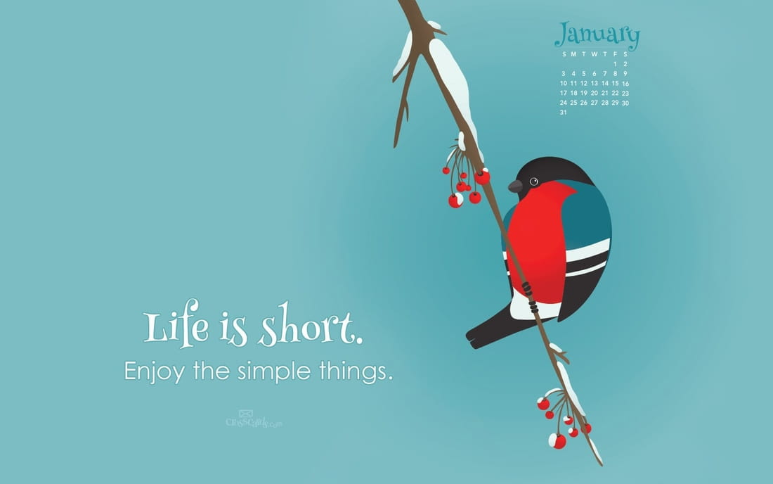 Desktop Calendar January 2016