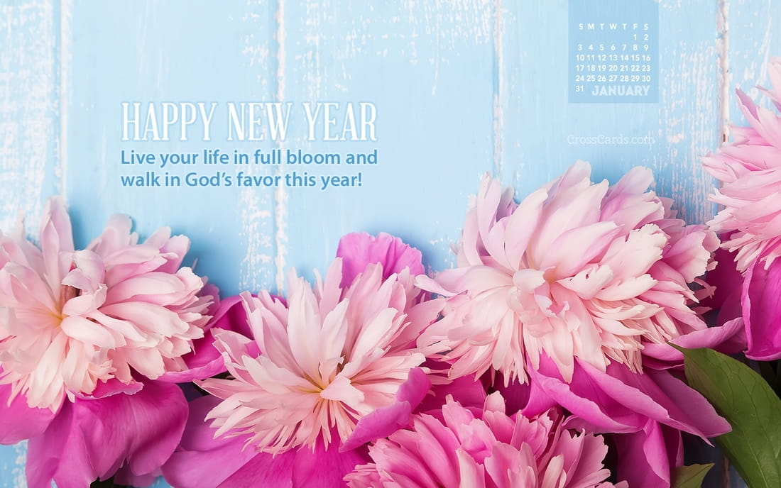 Calendar Live Wallpaper : January live in full bloom desktop calendar free