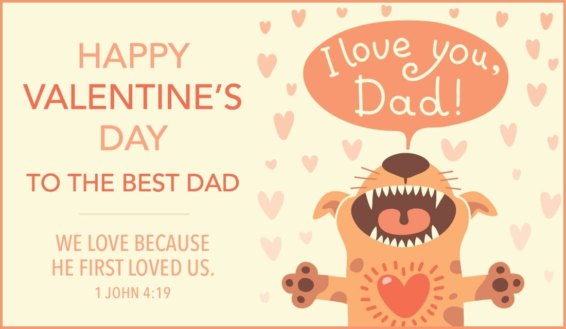 Happy ValentineS Day Dad Ecard  Free ValentineS Day Cards Online