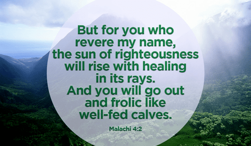 Through His name and His righteousness, we are healed!