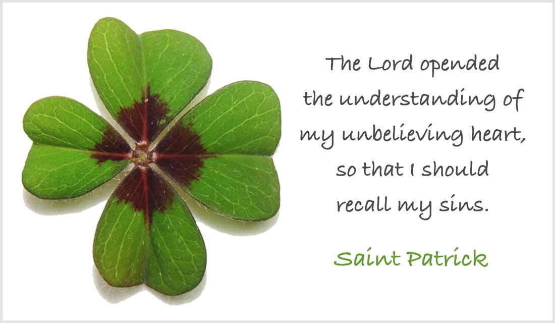 St. Patrick Quote ecard, online card