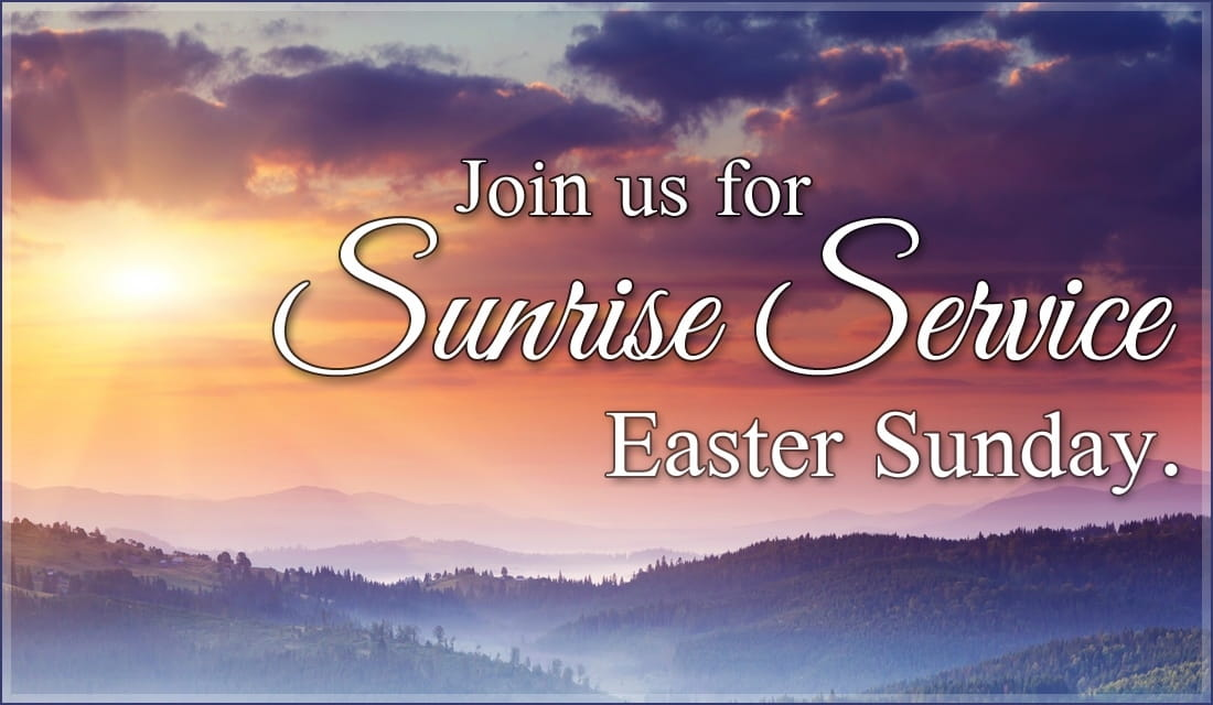 Sunrise Service Invite