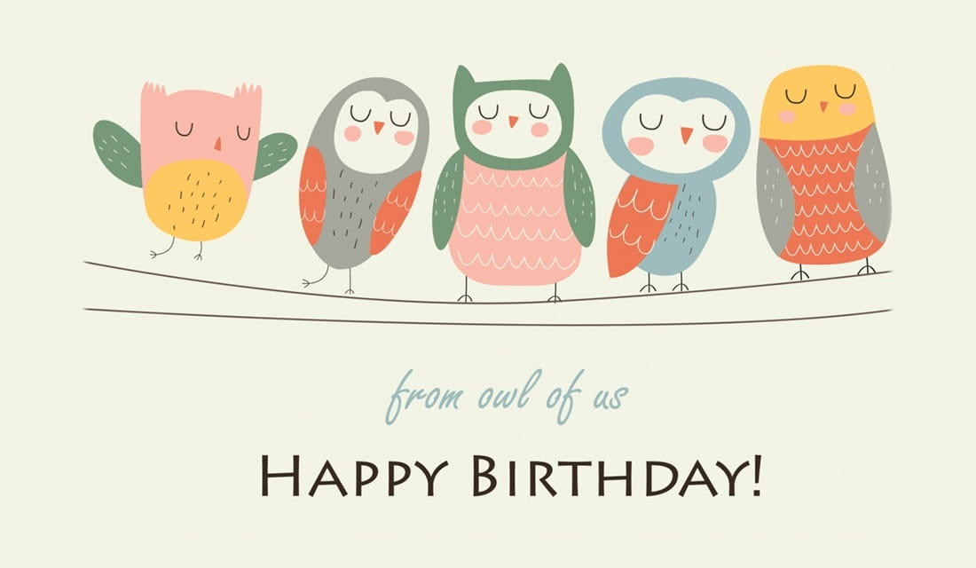 Happy Birthday from Owl of Us