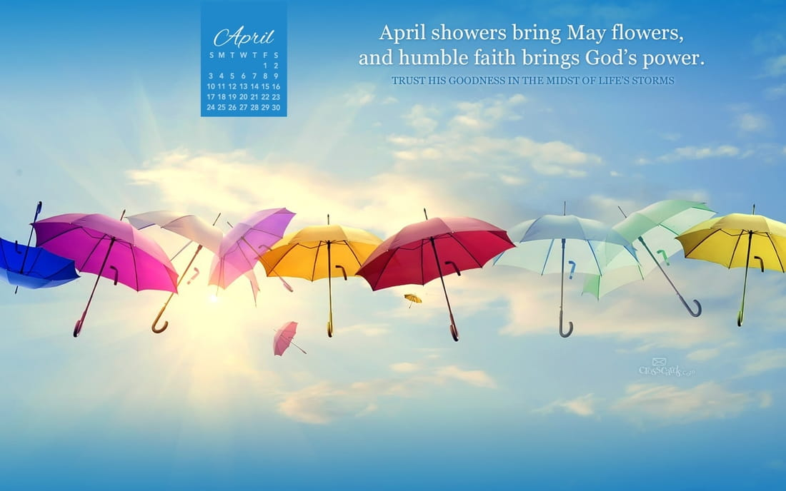 April Calendar Screensaver : April god s power desktop calendar free