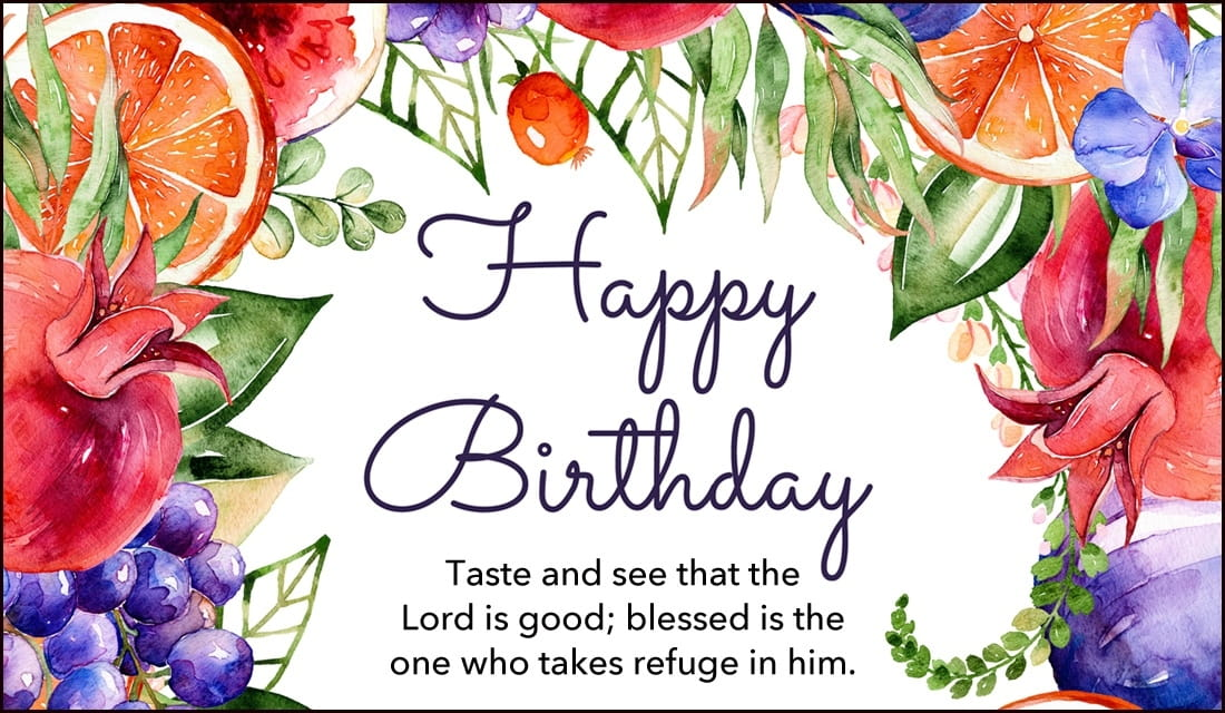 Free Happy Birthday Psalm 348 eCard eMail Free Personalized – Free Online Birthday Cards