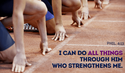 Any task can be completed through the strength in God! - Philemon 4:13
