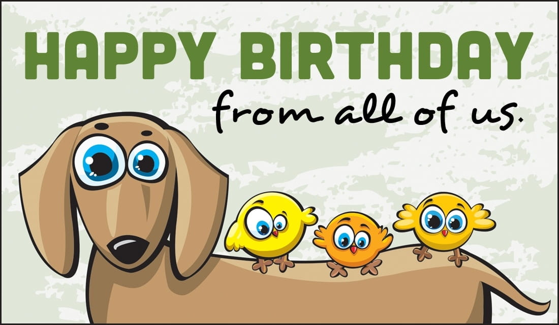 Free Happy Birthday From All Of Us eCard eMail Free Personalized – Birthday Card by Email