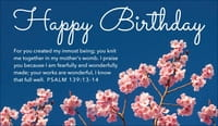 Happy Birthday - Psalm 139:13-14
