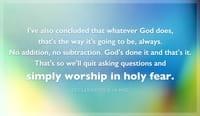 Ecclesiastes 3:14 MSG