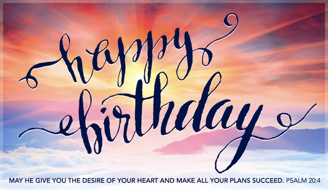 free happy birthday  psalm  ecard  email free personalized, Birthday card
